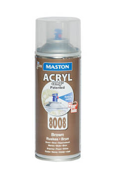 Spraymaali acrylcomp ral8008 400ml - Maalaustarvikkeet - 136225 - 1
