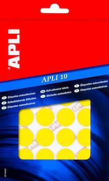 Tarraetiketti 13mm APLI pyöreä - Etiketit-, tulostuskortit ja tarrakalvot - 109455 - 1