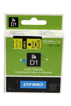 Tarranauha DYMO 12mmx7m 45018 - Tarra- ja kohokirjoitinteipit Dymo - 104065 - 1
