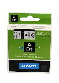 Tarranauha DYMO 6mmx7m 43613 - Tarra- ja kohokirjoitinteipit Dymo - 104055 - 1
