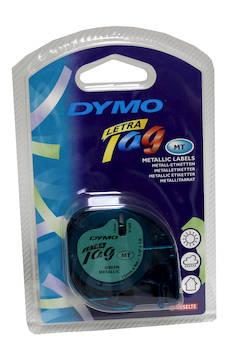 Tarranauha LETRATAG 12mmx4m 91229 - Tarra- ja kohokirjoitinteipit Dymo - 104145 - 1