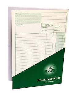 Tilaus/lähete A5/100sivua - Lomakkeet - 102215 - 1
