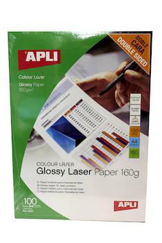 Tulostuspaperi A4 160g APLI Double Side - Valokuvapaperit - 122675 - 1