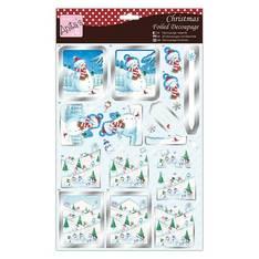 3D arkki Lumiukko ystävineen A4 - Askartelutarvikkeet - 150056 - 1