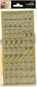 Ääriviivatarra isot numerot - Tarrat ja tarrakirjat - 136006 - 1