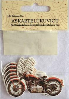 Askartelukuvio moottoripyörä - Askartelutarvikkeet - 136056 - 1