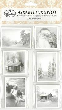 Askartelukuvio joulukuvat mustavalko - Askartelutarvikkeet - 153446 - 1