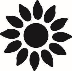 Auringonkukka kuvioreijittäjä l - Askartelutarvikkeet - 137586 - 1