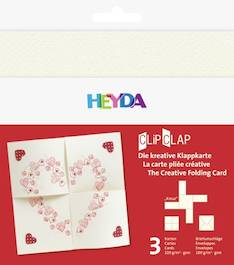 """Clipclap-korttisetti """"kreuz"""", 3 kuorta, korttia helmenvalkoinen - Askartelutarvikkeet - 137316 - 1"""