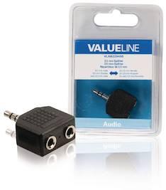 Äänijakaja 3,5mm Valueline - Kaapelit ja kaapelikourut, jatkojohdot - 146366 - 1