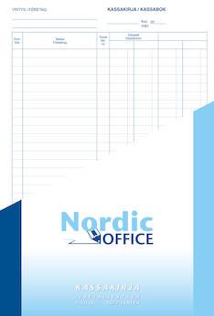 Kassakirja NORDIC A4 100sivua - Lomakkeet - 102326 - 1