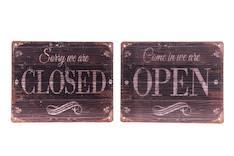 Kyltti Open/closed - Piensisustaminen - 148876 - 1