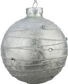 Lasipallo 8cm raita - Jouluun valot,koristeet,tekstiilit - 153746 - 1