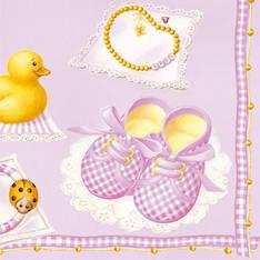 Lautasliina 33x33cm baby girl fsc mix - Servietit ja lautasliinat - 143786 - 1