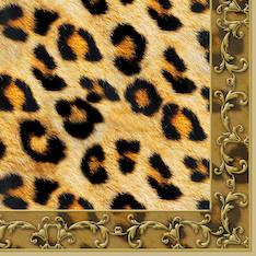 Lautasliina 33x33cm leopard ornament fsc - Servietit ja lautasliinat - 143816 - 1