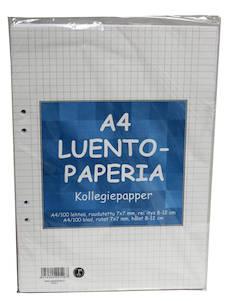 Luentopaperi A4/100 7mm PAPERIPISTE - Avo- ja muut lehtiöt - 102016 - 1