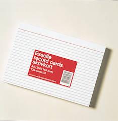 Merkintäkortti  A5 2-väri viivat - Esijärjestäjät,merkintä-johtok ja laatik - 103776 - 1