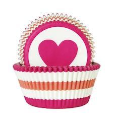 Muffinssivuoka (50 kpl) sydän, paperia - Ruuanvalmistustarvikkeet - 136896 - 1