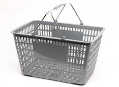Ostoskori/myymäläkori muovinen - Esitetelineet ja tarvikkeet - 111176 - 1