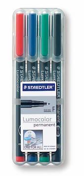 PH-kynäsarja F/0,6mm perm STAEDTLER - Piirtoheitinkynät spriiliukoiset - 108576 - 1