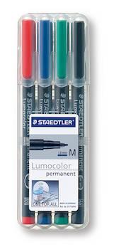 PH-kynäsarja M/1mm perm STAEDTLER - Piirtoheitinkynät spriiliukoiset - 119066 - 1