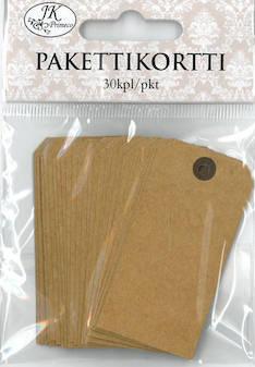Pakettikortti 3x6cm 30kpl/pkt - Tarrat ja tarrakirjat - 147206 - 1