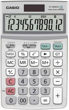 Pöytälaskin CASIO JF-120 ECO - Pöytälaskimet - 121356 - 1