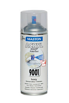 Spraymaali acrylcomp ral9001 400ml - Maalaustarvikkeet - 136226 - 1