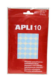 Tarraetiketti 13mm APLI pyöreä - Etiketit-, tulostuskortit ja tarrakalvot - 109456 - 1