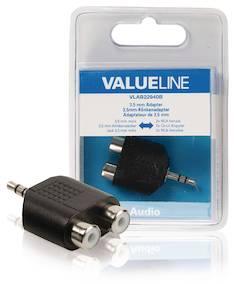 Äänisovitin 3,5mm Valueline - Kaapelit ja kaapelikourut, jatkojohdot - 146367 - 1