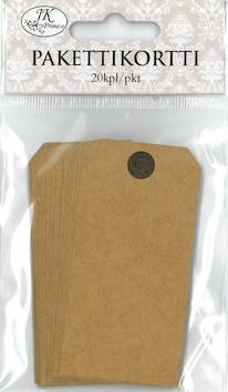 Pakettikortti 4x8cm 20kpl/pkt - Tarrat ja tarrakirjat - 147207 - 1