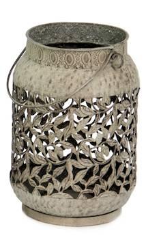 Lyhty 19x28cm ruskea pitsinen - Kynttilät, lyhdyt ja tarvikkeet - 149337 - 1