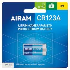 Paristo Airam CR123A  litium 3V - Paristot - 139487 - 1