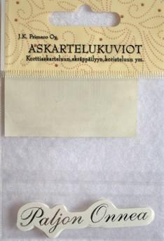 Askartelukuvio paljon onnea hopea - Askartelutarvikkeet - 136067 - 1