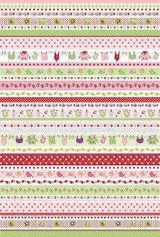 Baby borders -kartonki a4, 200 g - Askartelutarvikkeet - 137427 - 1
