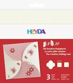 """Clipclap-korttisetti """"blume"""", 3 kuorta, korttia helmenvalkoinen - Askartelutarvikkeet - 137317 - 1"""
