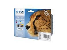 EPSON T0715 Multipack mustesuihku - Epson mustesuihkuväripatruunat - 116587 - 1