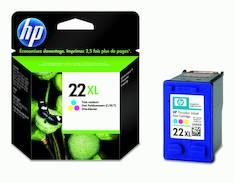 HP 22XL C9352CE mustesuihku - HP mustesuihkuväripatruunat - 121637 - 1