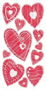 Hearts 1 -tarra-arkki - Askartelutarvikkeet - 137237 - 1