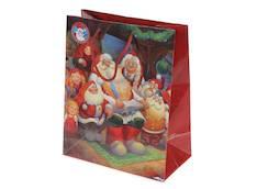 Joulukassi Santa Claus 32x26x14cm - Lahjakassit ja -pussit - 145297 - 1