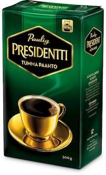 Kahvi PRESIDENTTI 500g Tummapaahto - Kahvit,teet ja kaakaot - 146977 - 1