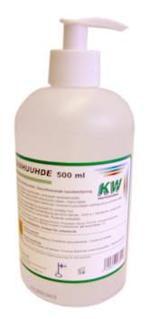 Käsihuuhde 500ml KW pumppupullo - Kosteusrasvat ja käsihuuhteet - 127117 - 1