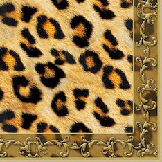 Lautasliina 25x25cm leopard ornament fsc - Servietit ja lautasliinat - 143817 - 1