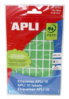 Tarraetiketti 12x18mm APLI - Etiketit-, tulostuskortit ja tarrakalvot - 128307 - 1