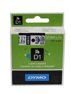 Tarranauha DYMO 12mmx7m 45010 - Tarra- ja kohokirjoitinteipit Dymo - 104057 - 1