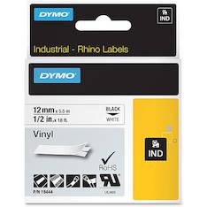 Tarranauha DYMO Rhino 12mm vinyyli 18444 - Tarra- ja kohokirjoitinteipit Dymo - 142697 - 1