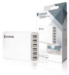 USB laturi König 6-porttinen - Kaapelit ja kaapelikourut, jatkojohdot - 146147 - 1