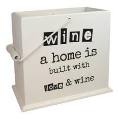 Viinilaatikko 24x14x25cm musta testi - Piensisustaminen - 151257 - 1