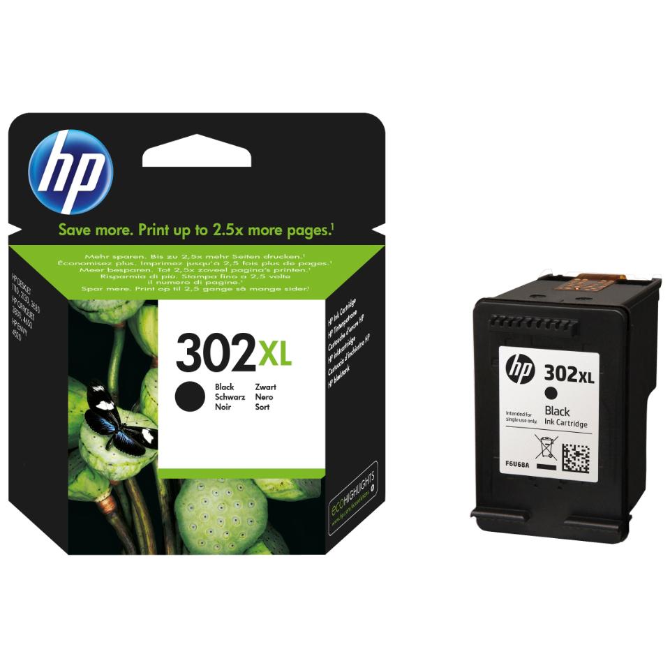 HP 302XL mustesuihku musta, 480s. - Kariteam verkkokauppa
