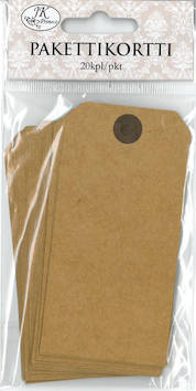 Pakettikortti 5x10cm 20kpl/pkt - Tarrat ja tarrakirjat - 147208 - 1